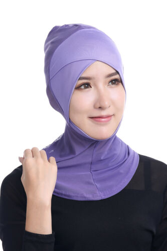 Ramadan Muslim Islamic Women Cross Easy Sport Cap Hijab Headwear Shawl Scarf New