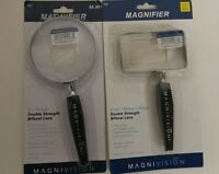 Lot Of 4 Magnivision 3 Magnifying Glasses