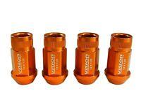 Vision 16pc 48mm Premium Extended Wheel Lug Nuts 12x1.25 Orange For Nissan