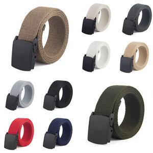 Canvas-Men-Tactical-Breathable-Gentleman-Belt-Waist-Leisure-Military-Outdoor