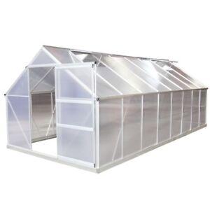 gew chshaus aluminium 19m mit fundament fr hbeet treibhaus tomatenhaus alu 6mm ebay. Black Bedroom Furniture Sets. Home Design Ideas