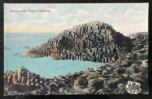 Honeycomb-Giant-039-s-Causeway-Portrush-Postcard-Northern-Ireland-Dickson-Belfast