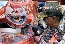 CLAY REGAZZONI & Teddy Yip Indianapolis 500 Ritratto Fotografia 1977 1