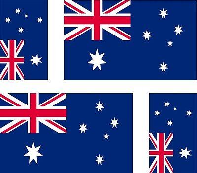 Set of 4x sticker vinyl car bumper decal outdoor car moto world flag australia