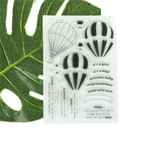 Hot Air Balloon Scrapbooking Album Card Decor Diary Craft Clear Stamps YEHXN