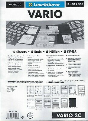 5 Vario 1C Sheets 216 x 280mm One clear pocket 195 x 263mm Leuchtturm