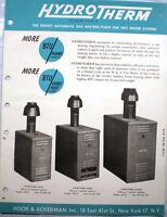 1948 Hydrotherm Catalog Hook & Ackerman Water Boiler Heater Asbestos History