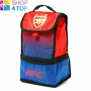 ARSENAL FC LUNCH FOOD RED BAG SCHOOL OFFICIAL FOOTBALL SOCCER CLUB TEAM FD NEW