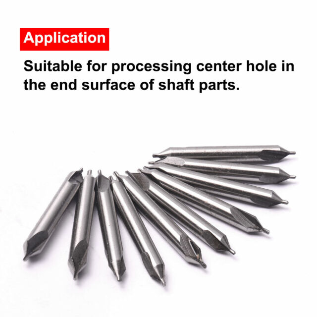 5xHSS Center Spotting Drill Bits Combined Countersink Bit Set Home Tool Use Sale
