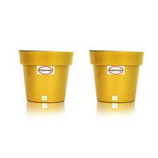 GARDEN SELF WATERING KIT PLANTER GOLD  BOX SET OF 2