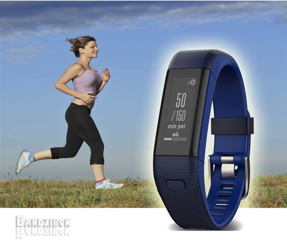 Garmin Vivosmart HR+ HR Plus Reloj GPS Pulsometro Sports Smartwatch Ingles Azul Ingles Smartwatch 363558