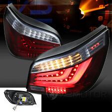 2004-2007 BMW E60 5-Series 525i 530i Red Smoke LED Light Bar Tail Brake Lamps