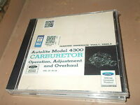 Ford Mustang Fairlane Galaxie Autolite 4300 Carburetor Shop Service Manual Cd