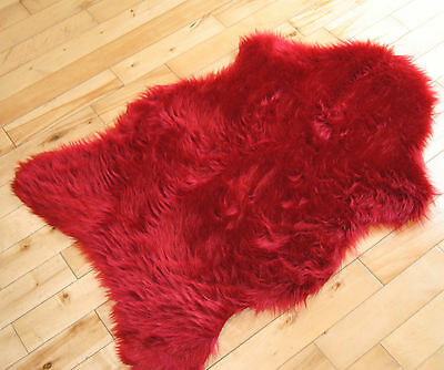 Soft Sheepskin Plain Fluffy Skin Faux Fur Fake Rug Cheap Washable Mat Small Rugs