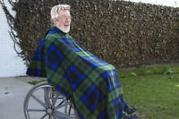 Wrapt Wheelchair Capes, Ponchos, Blankets, Coats for Men and Women. Warm! Easy!