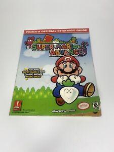 Super Mario Advance GameBoy Primas Official Strategy Guide Mario Bros Super Mar