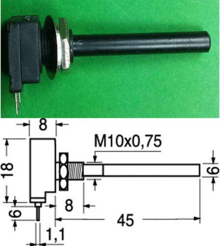 POTENZIOMETRO MONOGIRO  LINEARE 100 K Albero d=6mm