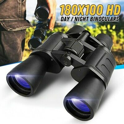 Waterproof HD 180x100 Zoom Military Binoculars Optics Hunting Camping Day//Night