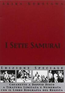 I-Sette-Samurai-2-DVD-Libro-in-Cofanetto-Nuovo-Limited-Edition-Akira-Kurosawa