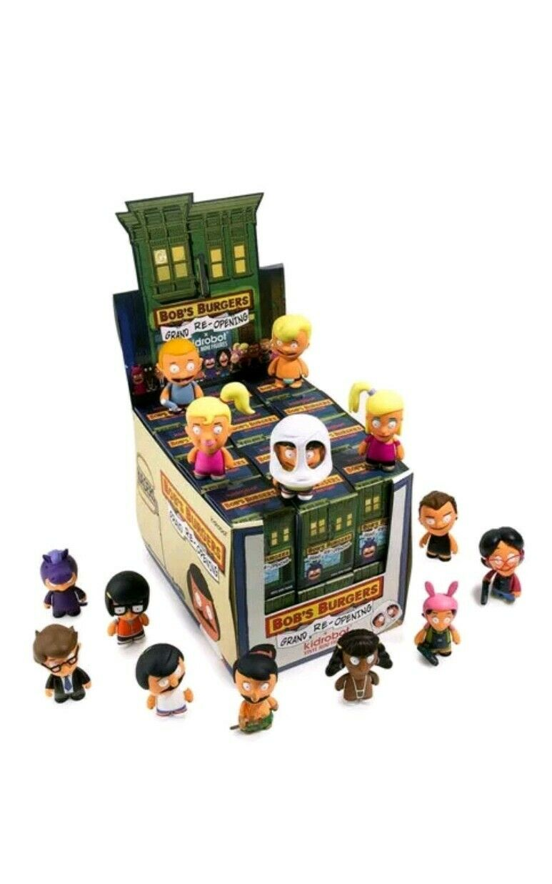 Bob's Burgers Grand ReOpening Kidrobot Complete case 24 Blind Box Figures NEW