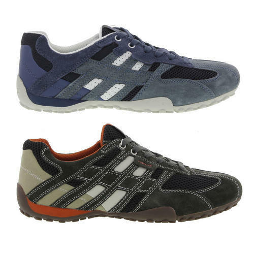 Geox U Snake K-Scam U4207K Mens Leather Trainers Shoes Size 8-11