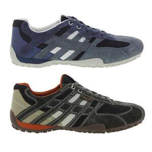 Geox Trainers Mens Breathable Walking Snake Blue Brown U Shoes lKcF13TJ