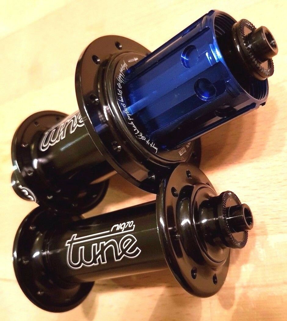 Tune Mig Mag 16   20 hole Nabensatz Nabe front rear hub set 4 super light wheels