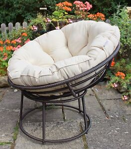New All Weather Outdoor Papasan Chair Conservatory Garden