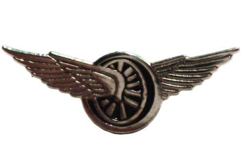 Winged Wheel Speed & Freedom Biker Motorcycle 23mm Motorbike Metal Enamel Badge