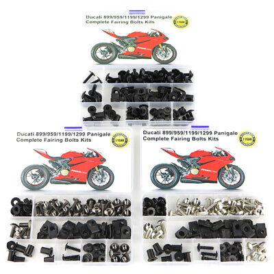 For Ducati 998 2002 2003 2004 Complete Fairing Bolt Kit Bodywork Screws Titanium