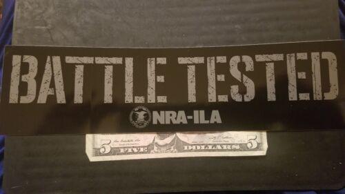 OEM Original NRA Battle Tested ILA Bumper Sticker Sticker//Decal Shot Show 2018