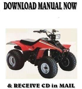 Honda Trx 200 Sx Fourtrax Factory Repair Shop Service Manual On Cd Ebay