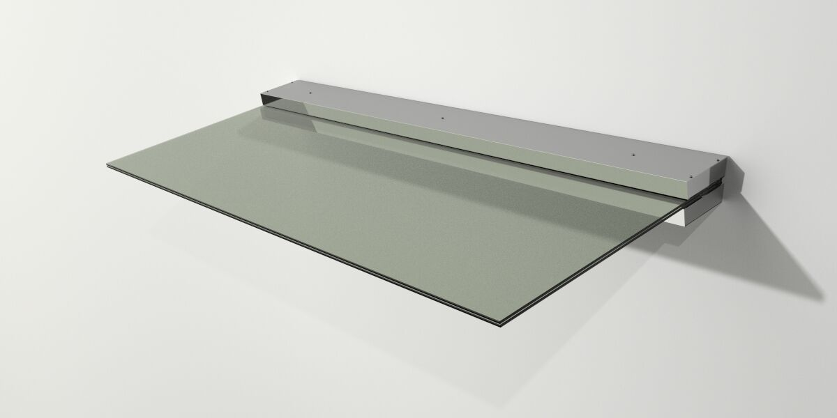 Haustür Glas Edelstahl Vordach VSG ca.18mm 1,6 x 0,9m