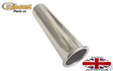 "Exhaust Tail Pipe Polished Stainless Steel  2 1/8"" 54mm Rolled Out"