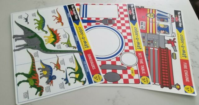 Melissa and doug Color-a-mat 3 pieces lot with crayons | eBay