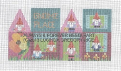 "PETITEPOINT GORGEOUS /""3D HOUSE GNOME HOME/"" 18CT MONO CANVAS #39 !!!"
