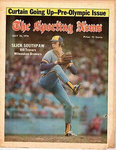 The-Sporting-News-Baseball-magazine-7-24-1976-Bill-Travers-Milwaukee-Brewers