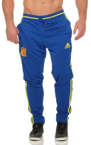 adidas Herren Trainingshose Jogginghose Fußball blau Hose Spanien FEF AI4868