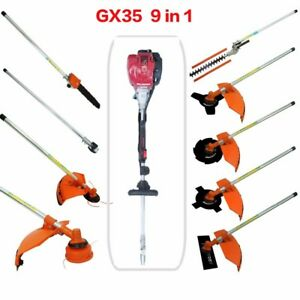 Details about Multi GX35 4-strokes 9 in 1 Multi brush cutter grass trimmer  lawn mower pruner