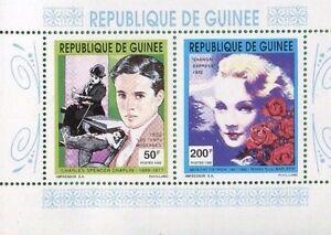 CHARLES CHAPLIN & MARLENE DIETRICH Souvenir Sheet MNH - Guinea E37