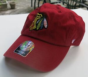Chicago Black Hawks Red Hat 47 brand fits all sizes 748926677813  9aaa1cd560a6