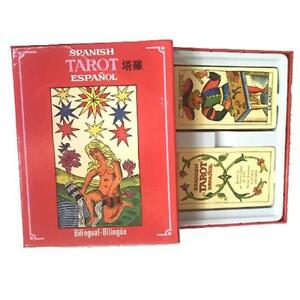 Spanish-Retro-Tarot-Deck-Waite-Rider-78-22-Cards-Vintage-Sealed-Future-Oracle