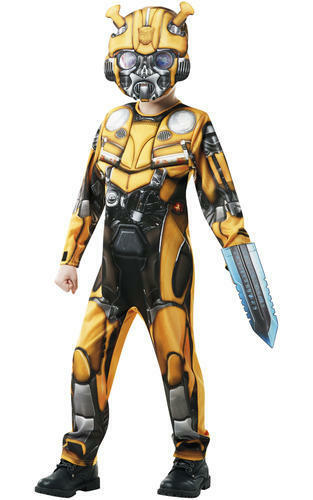 Deluxe Bumblebee Boys Fancy Dress Transformers Kids Superhero Costume Outfit
