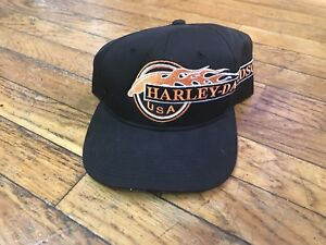 Image is loading Rare-Vintage-90s-Harley-Davidson-Flames-Annco-Snapback f17e30998d6