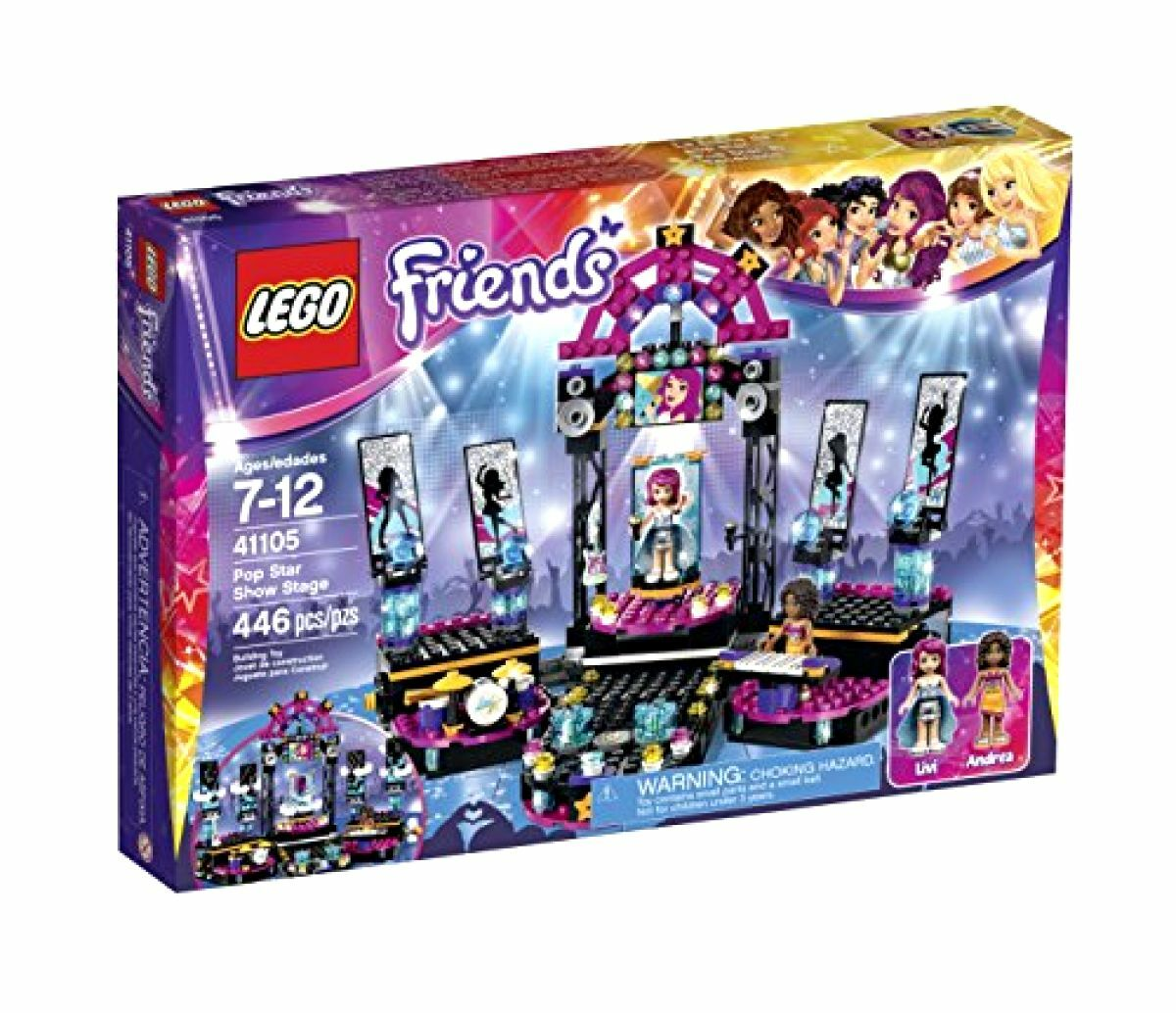 LEGO Amici - Pop estrella mostrare Stage, giocattolo per ragazze 7-12 anni, nuovo regalo diverdeimento