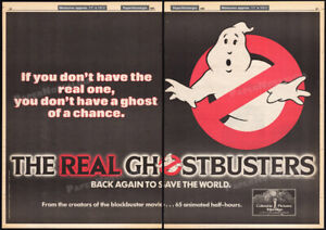 THE-REAL-GHOSTBUSTERS-Orig-1985-Trade-AD-TV-series-promo-poster-FRANK-WELKER
