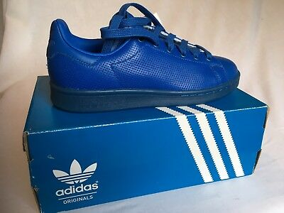 ORIGINAL ADIDAS STAN SMITH ADICOLOR LEATHER BLUE TRAINERS UK Size 31/2 | eBay