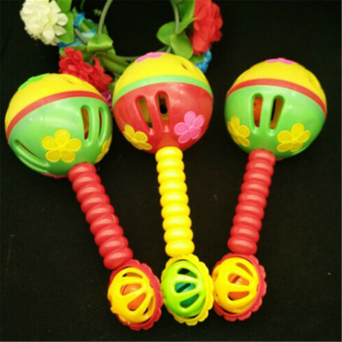 Plastic Cartoon Baby Hand Bell Rattles Music Gift For Newborns Children Toys UK
