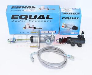 Exedy Master /& Slave Cylinder /& Stainless Clutch Line Kit For 90-05 Mazda Miata