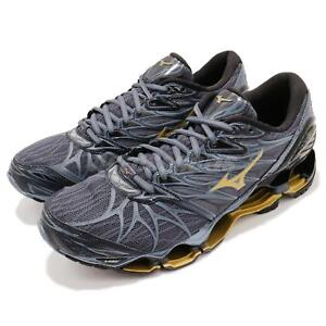 Mizuno-Wave-Prophecy-7-VII-Grey-Blue-Gold-Men-Running-Shoes-Sneakers-J1GC1800-50